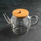 Чайник заварочный с металлическим ситом «Эко. Бабл», 1,5 л, 26,5×14×16,5 см - фото 786912
