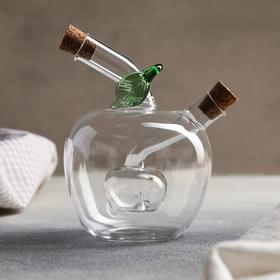 Бутыль «2 в 1» для соусов и масла «Яблочко», 11×10×13 см
