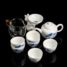 "Набор для чайной церемонии 10 пр""Вкус""чайник 180 мл,6 пиал 50 мл,чахай 180 мл,сито,подставка"