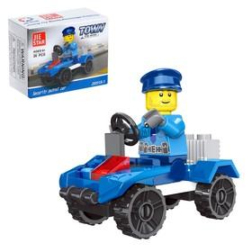 Конструктор Полиция «Патрульный квадрик», 26 деталей