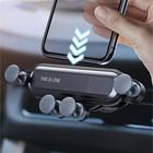 Держатель телефона в дефлектор, самозажимной захват 6-9.5 см, черный