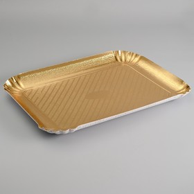 Pastry tray, gold, 51 x 37 cm