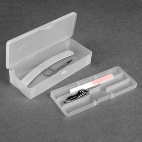 A container for nail tools shall 19*7.5 cm white package