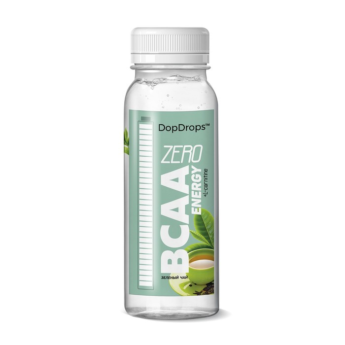 Напиток DopDrops BCAA Energy ZeroCarbs, зеленый чай, 240 мл.