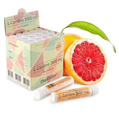 L-Carnitine DopDrops 3000мг, grapefruit, 25ml x 20 ampoules