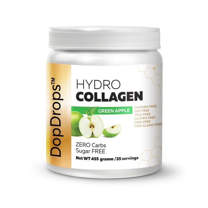 Когллаге DopDrops Hydro Collagen, зеленое яблоко, 455г.