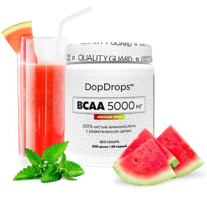 BCAA DopDrops,5000мг, арбузный фреш, 40 порций.