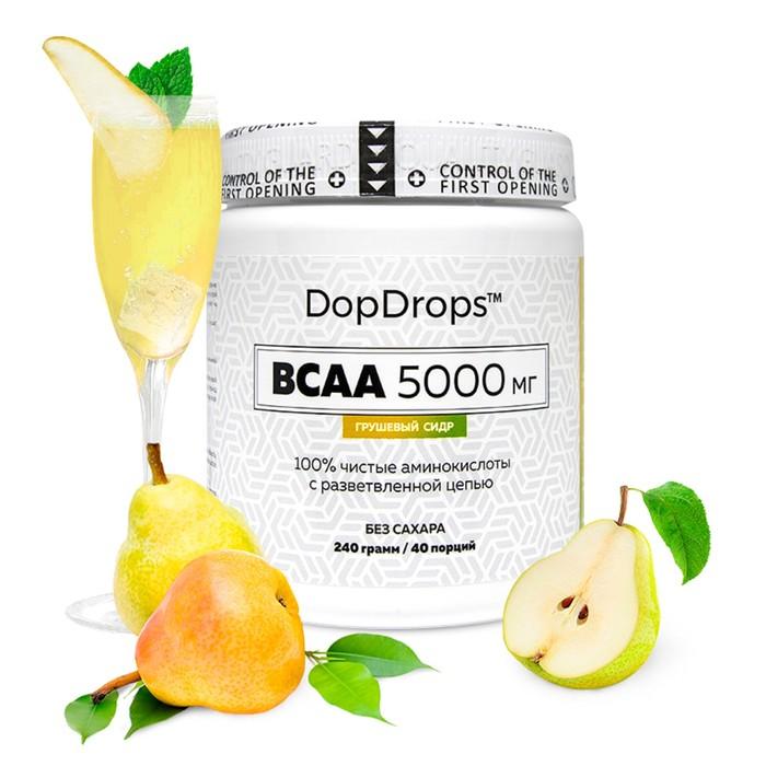 BCAA DopDrops,5000мг, грушевый сидр, 40 порций.