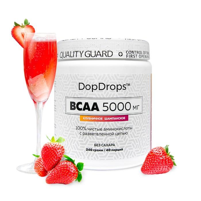 BCAA DopDrops,5000мг, клубничное шампанское, 40 порций.