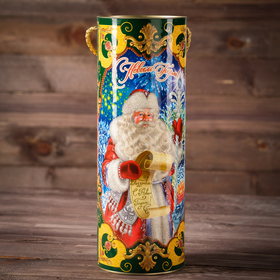 """Cardboard-wound tube d120/h345 """"the Residence of Grandfather Frost"""""""