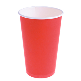 """Стакан """"Красный"""", для горячих напитков 400 мл, диаметр 90 мм"""