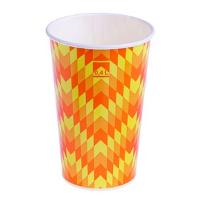 "Стакан ""Зиг-заг"" 400 мл, для холодных напитков, диаметр 90 мм"