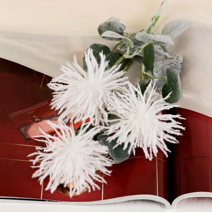 """Цветы искусственные """"Астра Комета"""" 7*53 см, белый - фото 4455678"""
