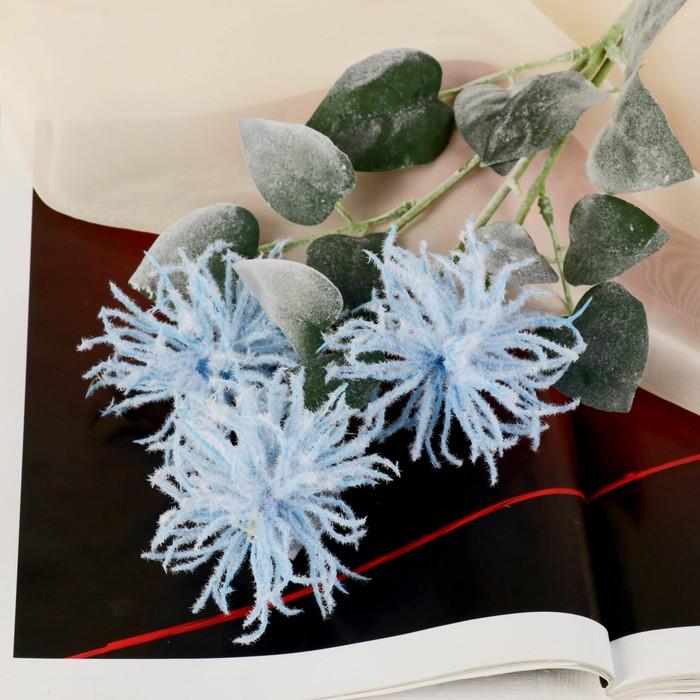 """Цветы искусственные """"Астра Комета"""" 7*53 см, голубой - фото 4455680"""