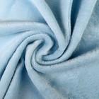"""Плюш трикотажный """"Gamma"""" 50х50 см, 390 г/кв. м., 50% хлопок, 50% п/э, (2-ой сорт) голубой"""