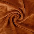 """Плюш трикотажный """"Gamma""""50х50 см, 390 г/кв. м., 50% хлопок, 50% п/э,(2-ой сорт) коричневый"""