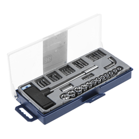 A set of sockets and bits KROFT 203036, 36 items, T-handle