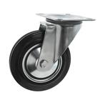 Колесо для тележек поворотное, d=160, резина