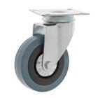Колесо для тележек поворотное, d=75 серая резина
