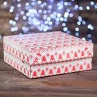 """Коробка картонная на 9 капкейков """"Вязанка"""", 25 х 25 х 10 см"""