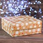 """Коробка картонная на 9 капкейков """"Снежинки"""", 25 х 25 х 10 см"""