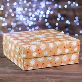 "A cardboard box of 9 cupcakes ""Snowflakes"", 25 x 25 x 10 cm"