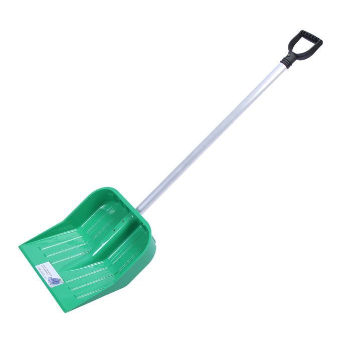 Лопата из поликарбоната, ковш 430 × 420 мм, с черенком, зелёная
