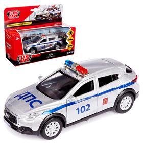 Машина металлическая с инерцией «Infiniti QX30 Полиция» открываются двери, 12 см