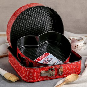 "A set of baking dish with split a/C coating ""cook"" 3 PCs 28/26/24x7 cm"