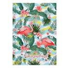 Ежедневник недатированный А5, 128 листов «Фламинго-2», твёрдая обложка, глянцевая ламинация