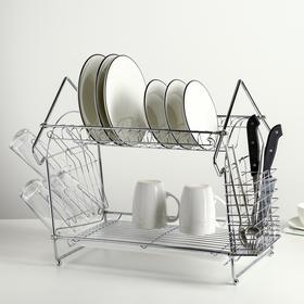 {{photo.Alt || photo.Description || 'Сушилка для посуды и столовых приборов, 41×34×40 см, с поддоном, хром'}}