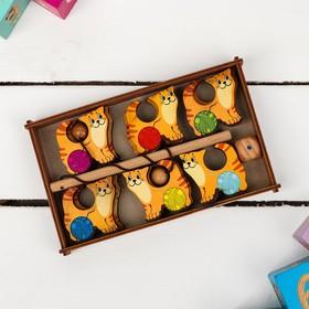 Игра «Поймай-ка. Котики» удочка с шариком