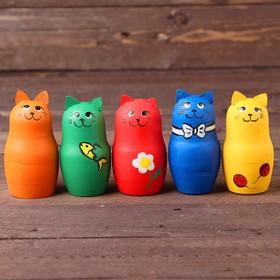 Сенсорная игра «Котики» набор 8 шт., размер котика: 9 × 5 × 5 см