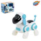 Робот-Собака «Умный Тобби», ходит, работает от батареек, цвет голубой