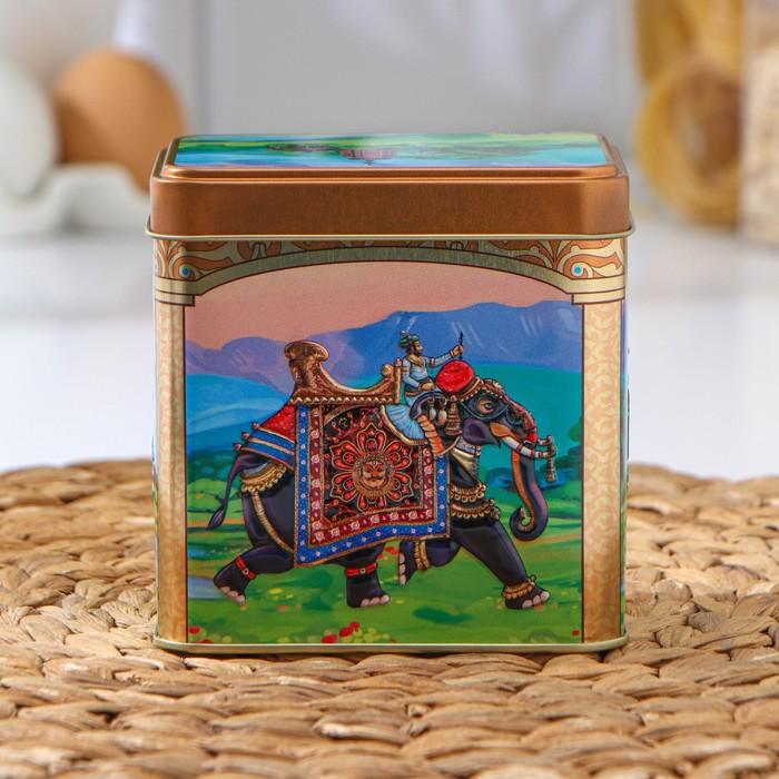 Банка для сыпучих продуктов «Индийский слон», 6,7×9,8×9,8 см, объём 0,6 л