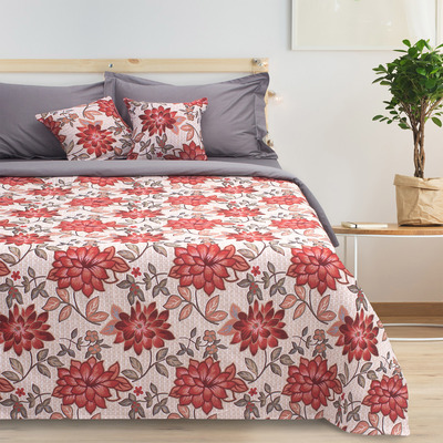 "Bedspread tapestry Ethel ""Luxury"", grey, 140x200 cm, p/e 80%, CL 20% (450 g/m)"