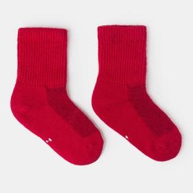 Носки детские шерстяные, цвет красный, размер 10-12 см (1)
