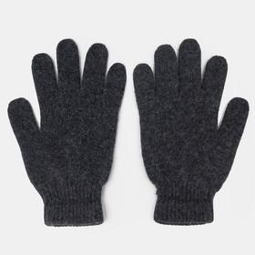 Перчатки женские шерстяные, цвет чёрный, размер 6,5-7,5