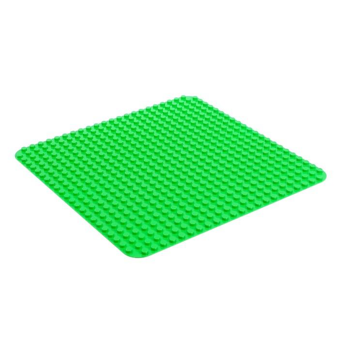 Пластина-основание для конструктора, 38,4*38,4 см, цвет зелёный