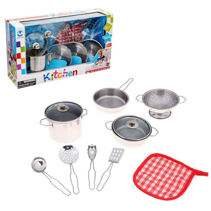 """Набор металлической посуды, """"Кулинарное искусство-4"""", 9 предметов"""