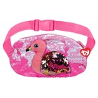 Мягкая игрушка-сумка поясная «Фламинго Gilda», с пайетками