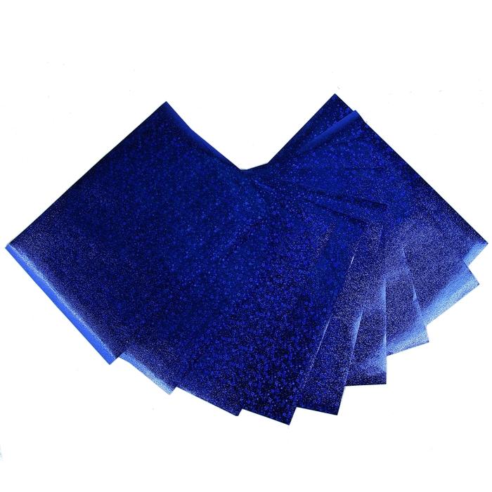 """Бумага для творчества фольгированная """"Звёздочки фиолетовые"""" А4, набор 10 листов"""