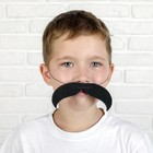 Mustache curved downward with an elastic band, p-p 14*2 cm, Col.black