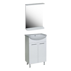Комплект мебели Лотос-Классик 50: тумба с раковиной + зеркало