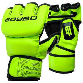 MMA BoyBo Fluo Flex S Gloves Green