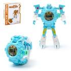 Робот-трансформер «Часы», с функцией проектора, цвет голубой