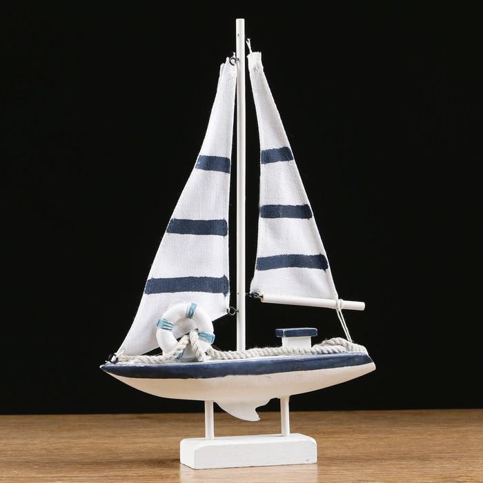 Яхта «Виват», 21х7х32 см, белая