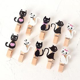 Набор декоративных прищепок «Кошечки» набор 10 шт.