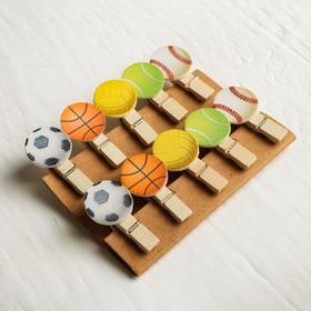 Набор декоративных прищепок «Мячики» набор 10 шт., длина 1 шт: 3,5 см