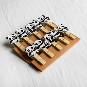 Набор декоративных прищепок «Панды» набор 10 шт.